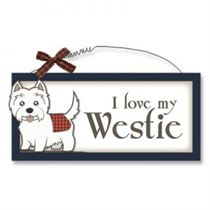 Love My Westie - Wooden Scottish Plaque