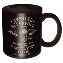 Avenged Sevenfold Sieze The Day Black Boxed Mug - Music and Media