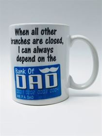 Bank of Dad Mug