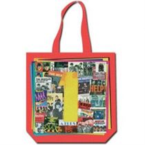 Beatles Ones Red Cotton Tote Bag - Music and Media