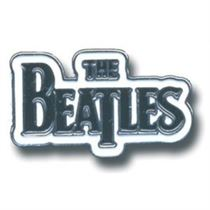 The Beatles Pin Badge: Drum Drop T Logo (medium Black) - Music and Media