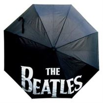 The Beatles Umbrella: Drop T Logo with Retractable Fitting - Music and Media