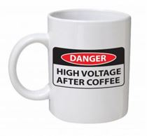 Danger Electrician Career Mug