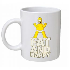 Fat & Happy The Simpsons Mug