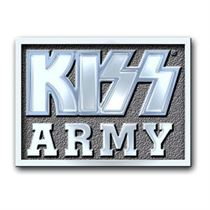 KISS Pin Badge: Army Block - Music and Media
