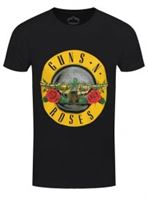 Guns N' Roses T-shirt Classic Logo Men's Black Large