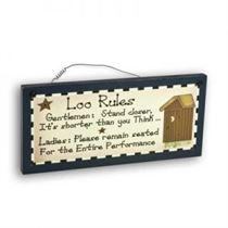 Loo Rules - Mini Magnetic Plaque