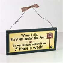 Under The Pub - Wooden Plaque