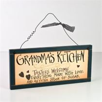Grandma's Kitchen - Wooden Plaque