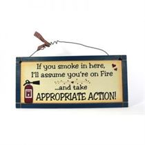 No Smoking - Wooden Plaque