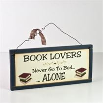 Book Lovers - Wooden Plaque