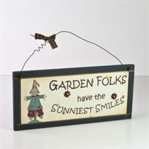 Garden Folks - Wooden Plaque