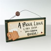 Beer Lover - Wooden Plaque