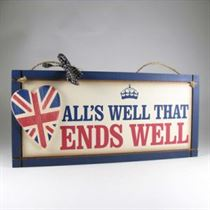 All's Well Plaque - Wooden Plaque