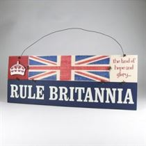 Rule Brits Plaque - Wooden Plaque