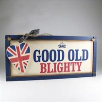 Good Old Blighty Plaque - Wooden Plaque