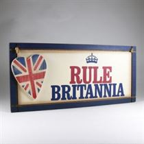 Rule Britannia Plaque - Wooden Plaque