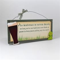 Irishman Drunk - Irish Plaque