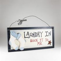 Sock it to me - Home Plaque