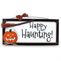 Happy Haunting - Halloween Plaque