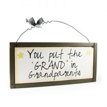 Grand & Grandparents - Sweet Sentiments Plaque