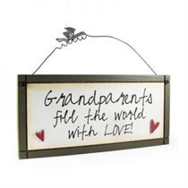 Grandparents Fill The World - Sweet Sentiments Plaque