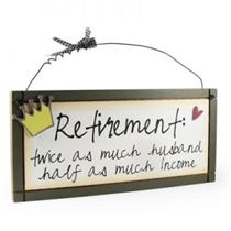Retirement - Sweet Sentiments Plaque