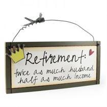 Retirement - Sweet Sentiments Plaque