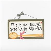 Equal Opportunity Kitchen - Sweet Sentiments Plaque