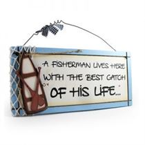 Fisherman - Sweet Sentiments Plaque