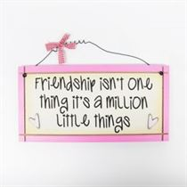 Friendship - Sweet Sentiments Plaque