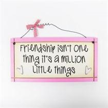 Friendship - Sweet Sentiments Plaque