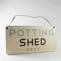 Potting Shed - Garden Plaque