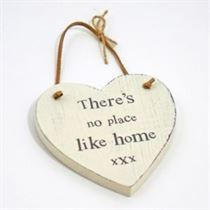 No Place Like Home - Heart Hangers