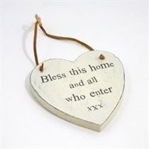 Bless All Who Enter - Heart Hangers