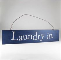 Laundry In - Wooden Door Sign