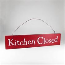 Kitchen Closed - Wooden Door Sign
