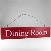 Dining Room - Wooden Door Sign