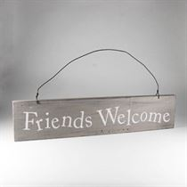 Friends Welcome - Wooden Door Sign