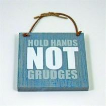 Hold Hands - Wooden Hangers