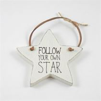 Follow Your Own Star - Star Wooden Hanger