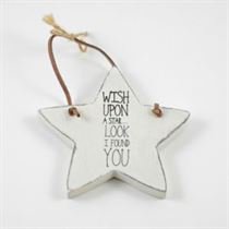Wish Upon A Star - Star Wooden Hanger
