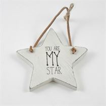 You Are My Star - Star Wooden Hanger