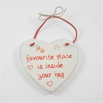 My Favourite Place - Red Loving Heart Hanger