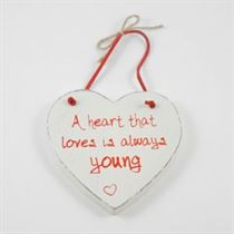 A Heart That Loves - Red Loving Heart Hanger