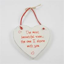 The Most Beautiful View - Red Loving Heart Hanger