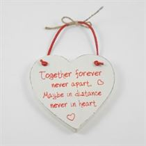 Together Forever - Red Loving Heart Hanger