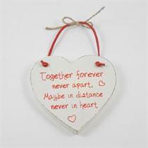 Together Forever - Red Loving Heart Hanger