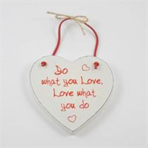 Do What You Love - Red Loving Heart Hanger