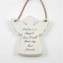 I Believe In Angels - Angel Wooden Hangers